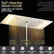 led shower luxury large shower head with multi function thermostatic mixer valve electric powered led shower spray led shower shower spray spray shower
