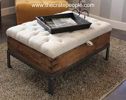 storage ottoman coffee table. Modern Wood Coffee Table Reclaimed Metal Mid Century Round Natural Diy Padded Large Ottoman Upholstered Storage E