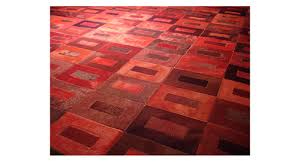 dyed cowhide rug red tones in tango design d1