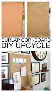 fun diy cork message board upcycle ballard design knockoff burlap memo board for a