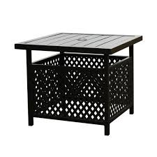 square metal outdoor dining bistro