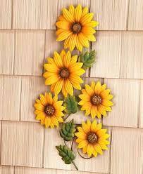 sunflower metal flower wall hanging art