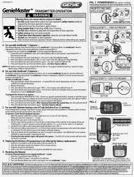 genie master remote programming instructions garage door stuff rh garagedoorstuff com genie service manual genie instruction