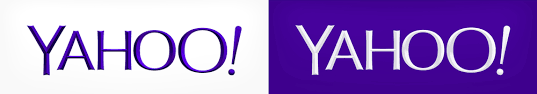 yahoo logo flat. Perfect Yahoo New Logo For Yahoo Designed InHouse Throughout Flat E