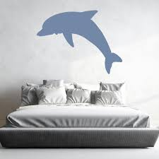 Wall Sticker Bathroom Diving Dolphin Silhouette Under The Sea Wall Stickers Bathroom