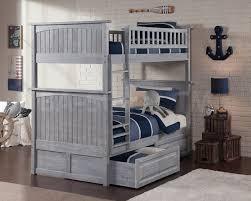 Nantucket Bedroom Furniture Nantucket Twin Twin Bunk Bed Driftwood Grey Drawers Bunk