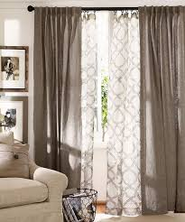 give your windows depth layer curtains in the living room love this pattern and