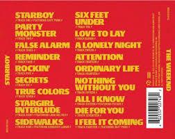 Cd Song List The Weeknd Starboy Tracklist Album Art Genius