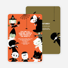 Costume Party Halloween Invites Paper Culture