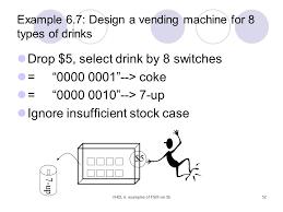 Vhdl Code For Vending Machine With State Diagram Amazing Chapter 48 Examples Of Finite State Machines FSMs Ppt Download