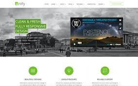 website template video unify responsive website template bootstrap business