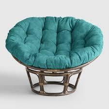 Porcelain Micro Suede Papasan Chair Cushion