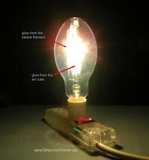 the mercury vapor lamp how it works history in this clear bulb zinc and cadmium are metals used along the mercury to help color and brightness