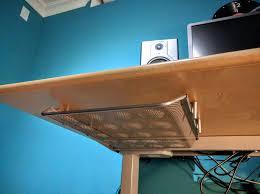 doent tray under the desk