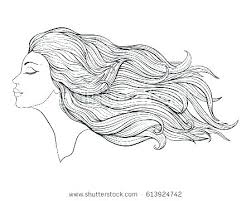 Coloring Pages Hair Stylist Girl Of Haircuts Bow Sheets Sheet Fresh