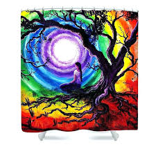 s bathrooms celtic tree of life shower curtain