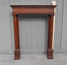 antique oak fireplace mantel