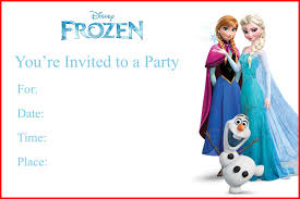 Print Out Birthday Invitations Inspirational Frozen Birthday Invitations Printable Collection Of 44