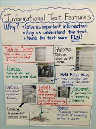 Text Features Anchor Chart Anchor Chart I Made For 1st Grade Informational Text