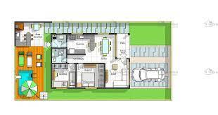 Os quartos foram posicionados ao fundo, sendo que os dois primeiros possuem um banheiro em comum. Planta De Casa Terrea Com 2 Quartos E Piscina Co So Projetos