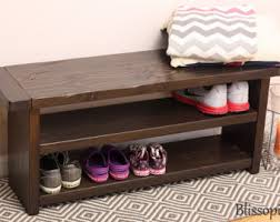 storage bench with shelves. Storage Bench With Shelves Wood Shoe And