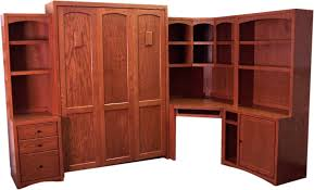 murphy bed office furniture. model m9854mission corner office group with desk cpuprinter cabinet file and hutches wallbed available in t f q made of solid wood murphy bed furniture