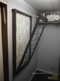 picture expandable clos drying rack wall mount