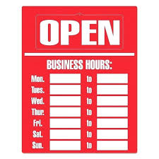 Store Sign Template Business Hours Printable Of Templates