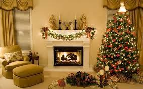Living Room Decorations For Christmas Christmas Living Room Decor Chocolate Walls Glass Fireplace Door