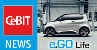 new car press releasePress release First Industrie 40 Series Production Car at CeBIT
