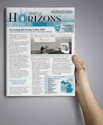 Newsletter Mastheads The Very Idea Graphic Design Vast Horizons Newsletter