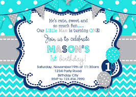 Birthday Invatations Boys Birthday Invitation Boys Party Invitation Turquoise Grey Navy Boys 1st Birthday Invitation Printed Invitation Printable Invite