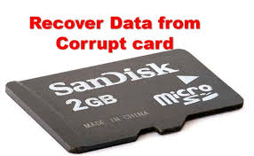 format a corrupted sd or micro sd card