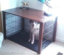 How to make a dog crate Welded Diy Simpli Decor Diy Dog Crate Table Madewithmagicco