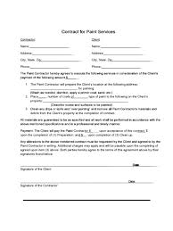 contractor forms templates painting contractor forms contract template optional screenshoot
