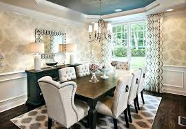 dining table with padded chairs glamorous formal dining room set with tufted upholstered chairs and dark