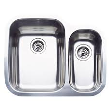 blanco supreme undermount stainless steel 26 in 1 1 2 double single bowl kitchen sink 440163 the home depot