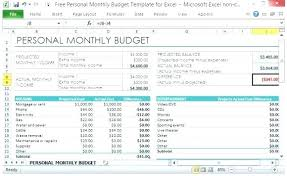 Home Budget Spreadsheet Excel Personal Home Budget Template Worksheet Excel Templates