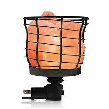 Wbm Salt Lamp Beauteous WBM 32 Himalayan Glow Black Metal Basket Design NightLightETL