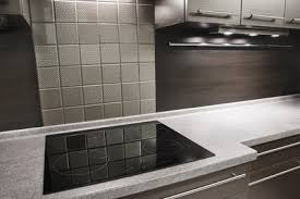 textured stainless steel backsplash tiles