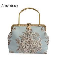 <b>Angelatracy 2018</b> New Jacquard Luxury Handbags <b>Women</b> Bags ...