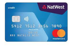 image of a natwest reward credit card