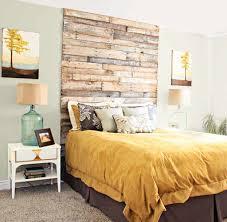 DIY Wooden Headboard Bedroom