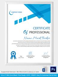Professional Certificates Templates Clever Template Sample For Business Certificate With Modern And Cool