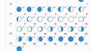Moon Chart Calendar 2019 Moon Calendar For September 2019 September 2019 Lunar Calendar