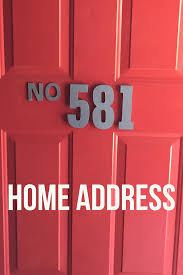 numbers diy home address budget friendly metallic paint wooden numbers hobby lobby michaels front porch front door red door red numbers