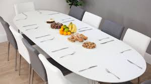 modern extending dining table and chairs white oval dining table