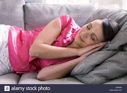 Girl pretend to sleep