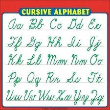 Cursive Letter Chart Free Printable Cursive Writing Chart Printable Worksheets