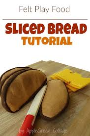 slice of bread template. Beautiful Template How To Sew Cute Felt Slices Of French Loaf Bread Easy Make Really Throughout Slice Of Bread Template